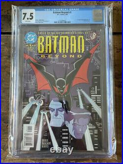 DC Batman Beyond #1 CGC 7.5 White Pages 1st Appearance of Terry McGinnis