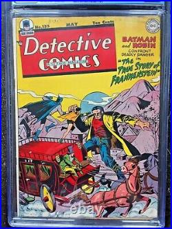 DETECTIVE COMICS #135 CGC FN- 5.5 White pg! Batman & Robin vs Frankenstein