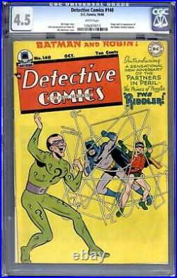 Detective Comics #140 (1948) Cgc 4.5 White Pages 1st App. The Riddler