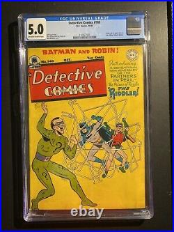 Detective Comics 140 CGC 5.0 Off White To White