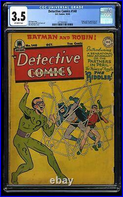 Detective Comics #140 CGC VG- 3.5 Off White 1st Riddler