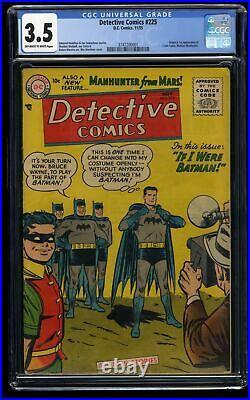 Detective Comics #225 CGC VG- 3.5 Off White to White 1st Martian Manhunter