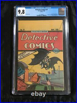 Detective Comics #27 Reprint CGC 9.8 WHITE Pages 1984 RARE Oreo Cookies Giveaway