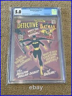Detective Comics 359 CGC 5.0 OWithWhite Pages (1st app of Batgirl!) + magnet