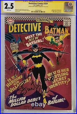 Detective Comics #359 Cgc 2.5 Ss Signed A West B Ward 1st Batgirl Batman White