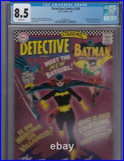 Detective Comics # 359 Jan 1967 CGC 8.5 White Pages