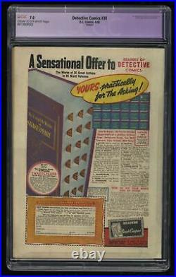 Detective Comics #38 CGC FN/VF 7.0 Cream To Off White (Restored) 1st Robin