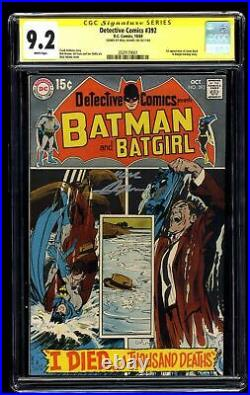 Detective Comics #392 CGC NM- 9.2 White Pages SS signed by Neal Adams