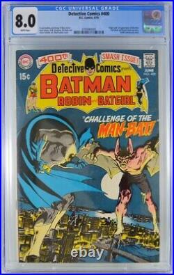 Detective Comics #400 CGC 8.0 1st Appearance Man-Bat Neal Adams 1970 WHITE