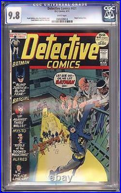 Detective Comics #421 Cgc 9.8 White Pgs Neal Adams Cover! Highest Certified