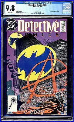 Detective Comics #608 Cgc 9.8 White Pages! 1st Anarky Sale