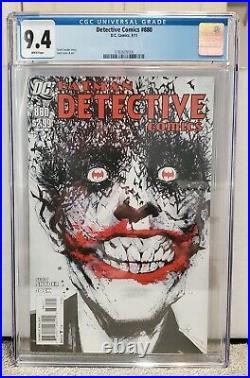 Detective Comics 880 CGC 9.4 White Pages Classic Jock Joker Cover