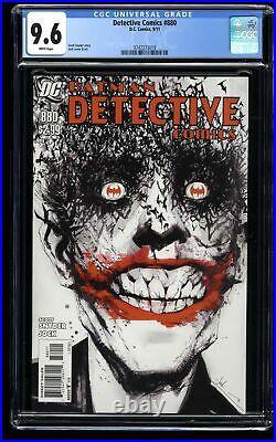 Detective Comics #880 CGC NM+ 9.6 White Pages Jock Joker Cover Batman