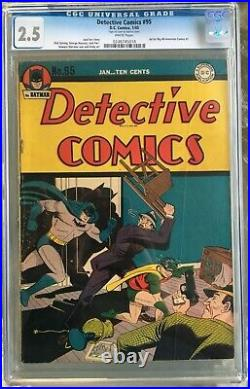 Detective Comics #95 (1945) CGC 2.5 - White pages Ad for Big All-American #1