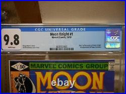 Moon Knight 1 cgc 9.8 Marvel 1980 1st appearance of Raoul Bushman WHITE pgs NICE