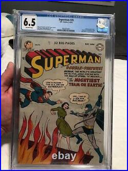Superman 76 CGC 6.5 off white pages from 1952 Batman team up
