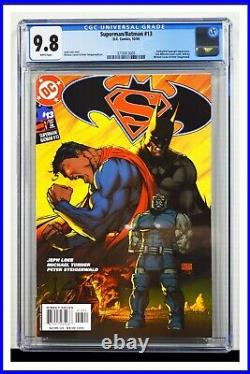 Superman Batman #13 CGC Graded 9.8 DC October 2004 White Pages Comic Book