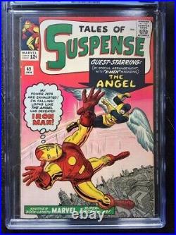 TALES OF SUSPENSE #49 CGC VF 8.0 White pg! 1st X-Men x-over