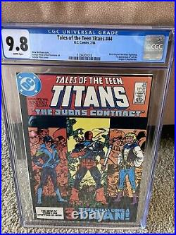 Tales Of The Teen Titans #44 Cgc 9.8 White Pages 1st Appearance Of Nightwing