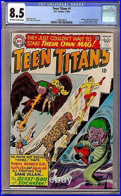 Teen Titans #1 CGC 8.5 OWithWhite 1966 DC Batman, Aquaman, Flash, Wonder Woman Cameo
