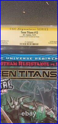Teen Titans 12 cgc 9.8 white pages, Signed, first appearance of Batman who laugh