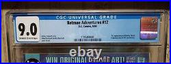 The Batman Adventures #12 1st App. Of Harley Quinn in Comics White Pages CGC 9.0