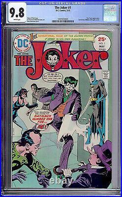 The Joker #1 CGC 9.8 DC 1975 Riddler! Batman! Killing Joke! White Pages! 143 cm